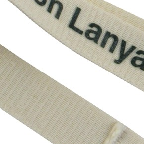 een katoenen lanyard in een close-up